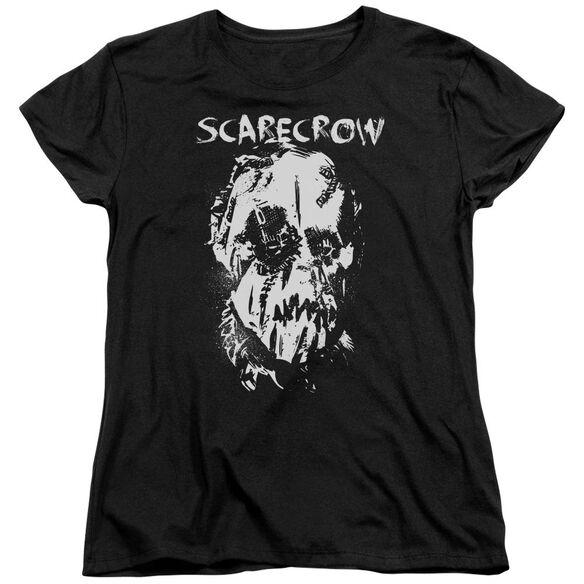 Batman Begins Scarecrow Face Short Sleeve Womens Tee T-Shirt