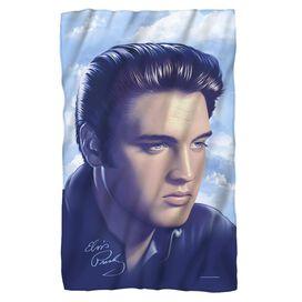 Elvis Presley Big Portrait Fleece Blanket