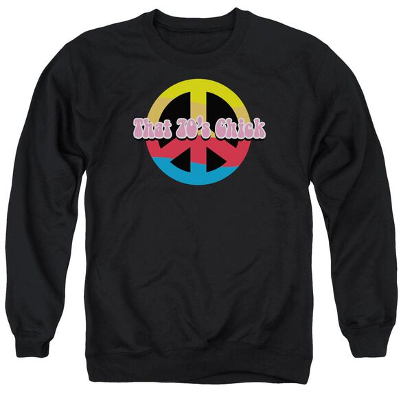 That 70 S Chick Adult Crewneck Sweatshirt