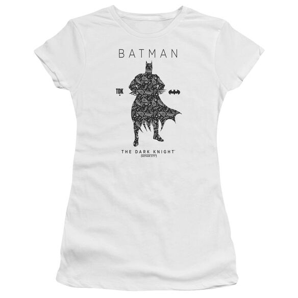 Batman Paislety Silhouette Short Sleeve Junior Sheer T-Shirt