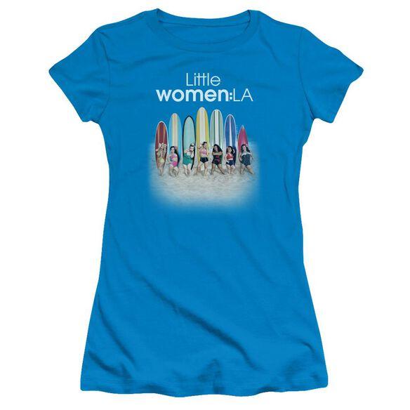 Little Women La Surfs Up Short Sleeve Junior Sheer T-Shirt