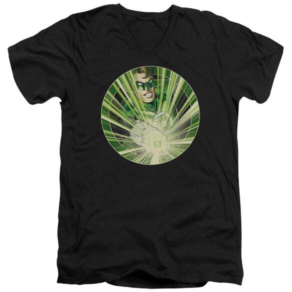 Green Lantern Light Em Up Short Sleeve Adult V Neck T-Shirt