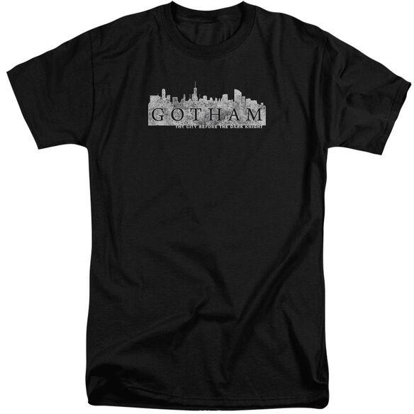 Gotham Skyline Logo Short Sleeve Adult Tall T-Shirt