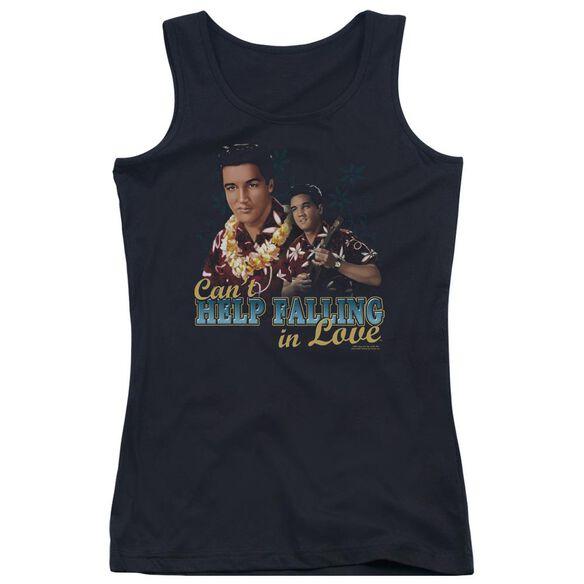 Elvis Presley Cant Help Falling Juniors Tank Top