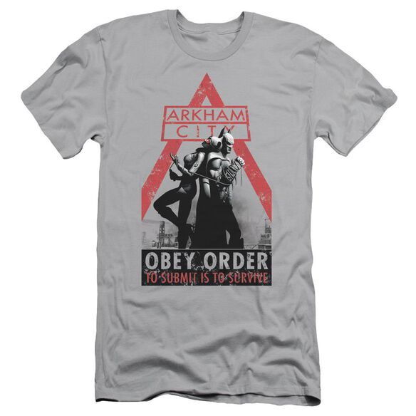 ARKHAM CITY OBEY ORDER - S/S ADULT 30/1 - SILVER T-Shirt