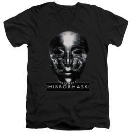 Mirrormask Mask Short Sleeve Adult V Neck T-Shirt