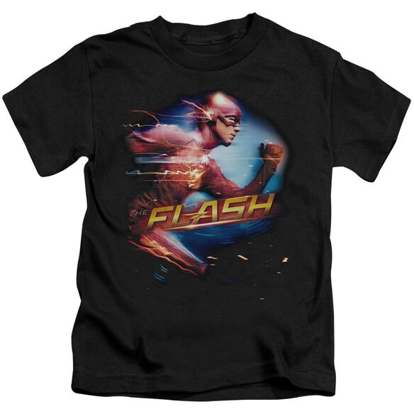 The Flash Fastest Man Short Sleeve Juvenile Black T-Shirt