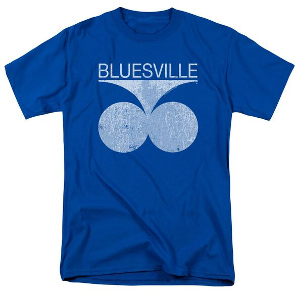 Bluesville Bluesville Distress Short Sleeve Adult Royal T-Shirt