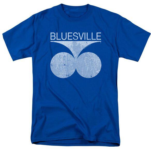 Bluesville Bluesville Distress Short Sleeve Adult Royal T-Shirt