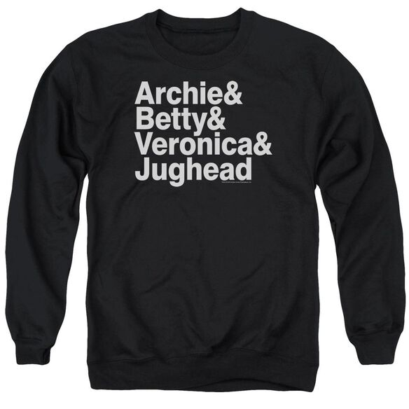 Archie Comics Ampersand List Adult Crewneck Sweatshirt