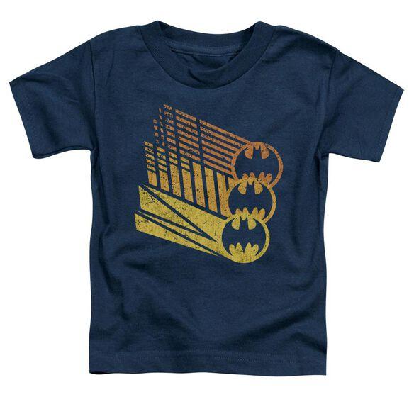 BATMAN BAT SIGNAL SHAPES - S/S TODDLER TEE - NAVY - T-Shirt