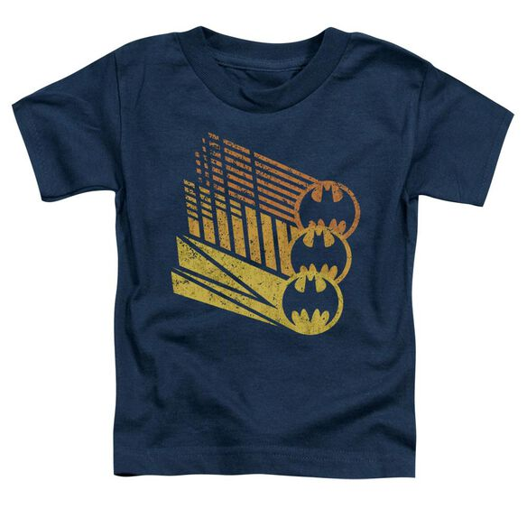 Batman Bat Signal Shapes Short Sleeve Toddler Tee Navy Sm T-Shirt