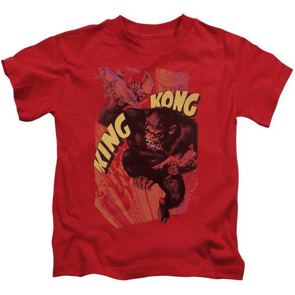 King Kong Plane Grab Short Sleeve Juvenile Red Md T-Shirt