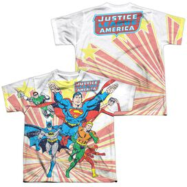 Dc Coming At You (Front Back Print) Short Sleeve Youth Poly Crew T-Shirt