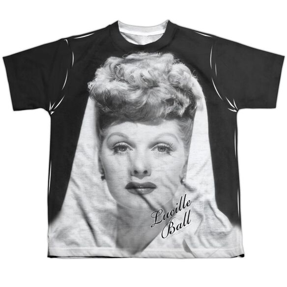 Lucille Ball Glamourous Short Sleeve Youth Poly Crew T-Shirt
