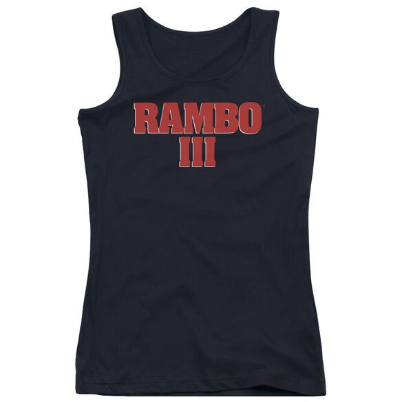 Rambo Iii Logo Juniors Tank Top