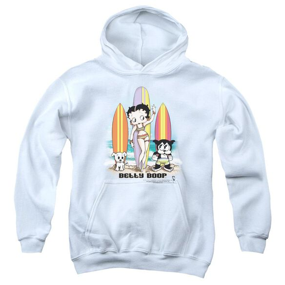 Betty Boop Surfers Youth Pull Over Hoodie