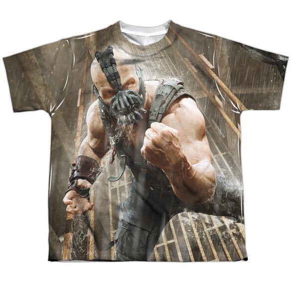 Dark Knight Rises Rain Rage Short Sleeve Youth Poly Crew T-Shirt