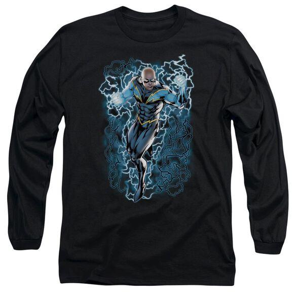Jla Lightning Bolts Long Sleeve Adult T-Shirt