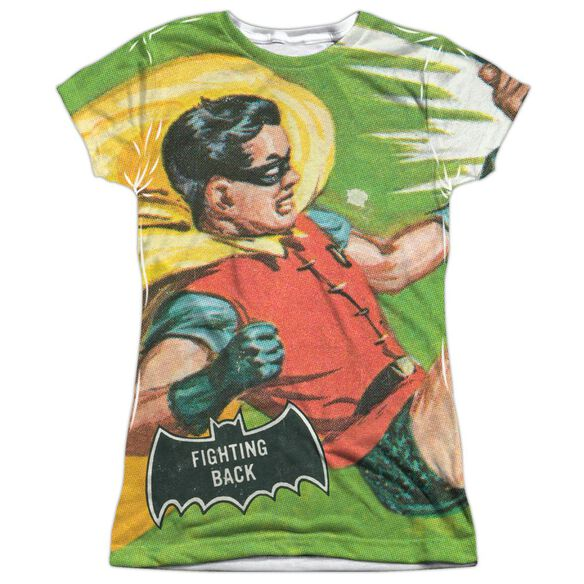 Batman Classic Tv Fighting Back Short Sleeve Junior Poly Crew T-Shirt