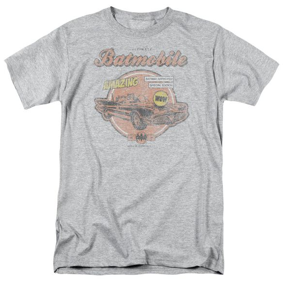Batman Amzing Batmobile Short Sleeve Adult Athletic Heather T-Shirt