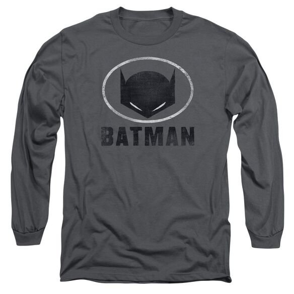 Batman Mask In Oval Long Sleeve Adult T-Shirt