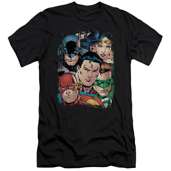 Jla Up Close And Personal Short Sleeve Adult T-Shirt