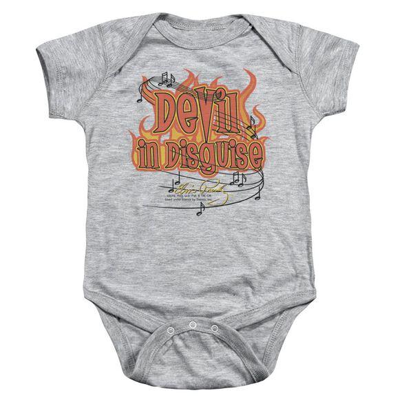 Elvis Devil Infant Snapsuit Athletic Heather Md