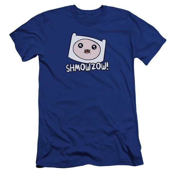 Adventure Time Shmowzow Hbo Short Sleeve Adult Royal T-Shirt