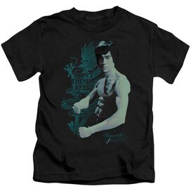 Bruce Lee Feel Short Sleeve Juvenile Black T-Shirt