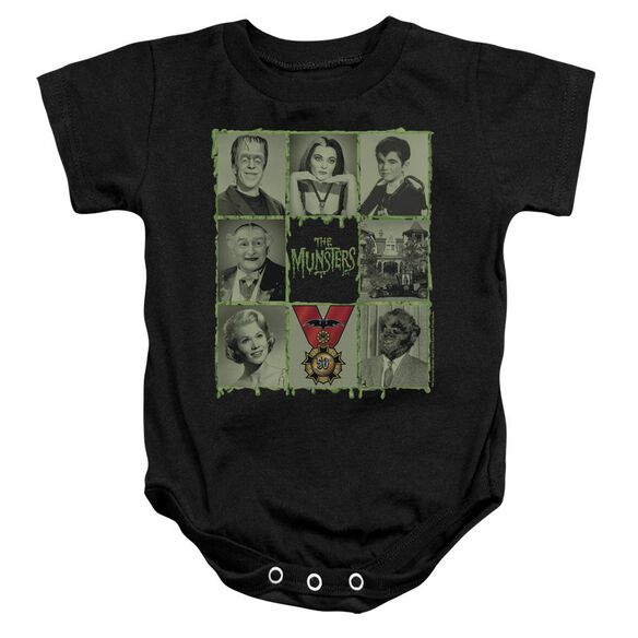 The Munsters Blocks Infant Snapsuit Black