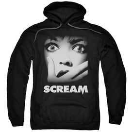 Scream Poster Adult Pull Over Hoodie Black