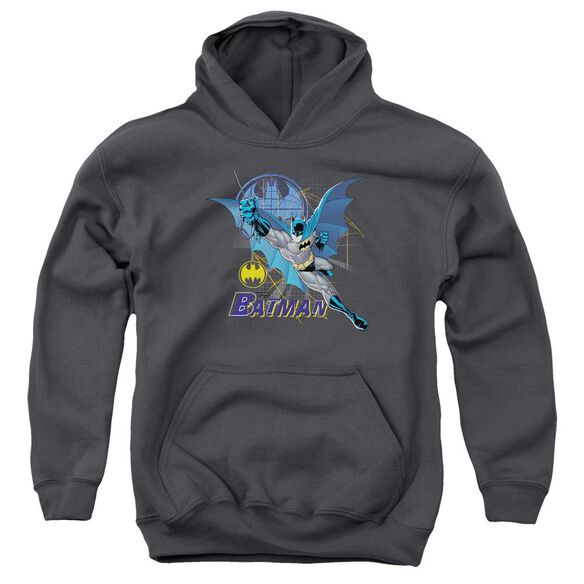Batman Cape Outstretched Youth Pull Over Hoodie