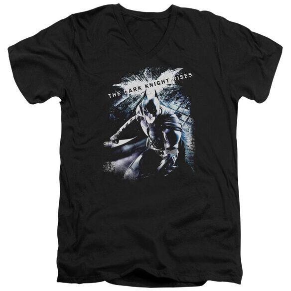 Dark Knight Rises More Than A Man Short Sleeve Adult V Neck T-Shirt