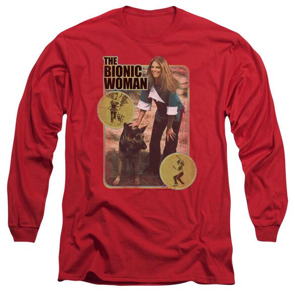 Bionic Woman Jamie And Max Long Sleeve Adult T-Shirt