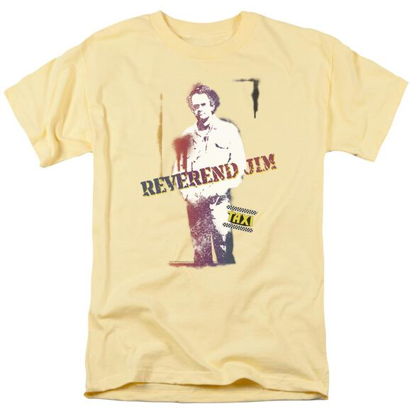 Taxi Reverend Jim Short Sleeve Adult Yellow T-Shirt