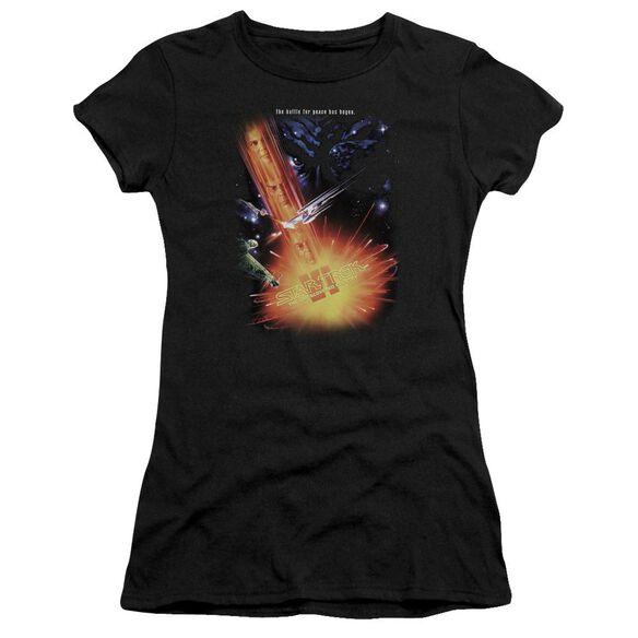Star Trek Undiscovered Cntry(Movie) Short Sleeve Junior Sheer T-Shirt