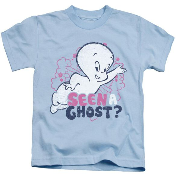 Casper Seen A Ghost Short Sleeve Juvenile Light Blue T-Shirt