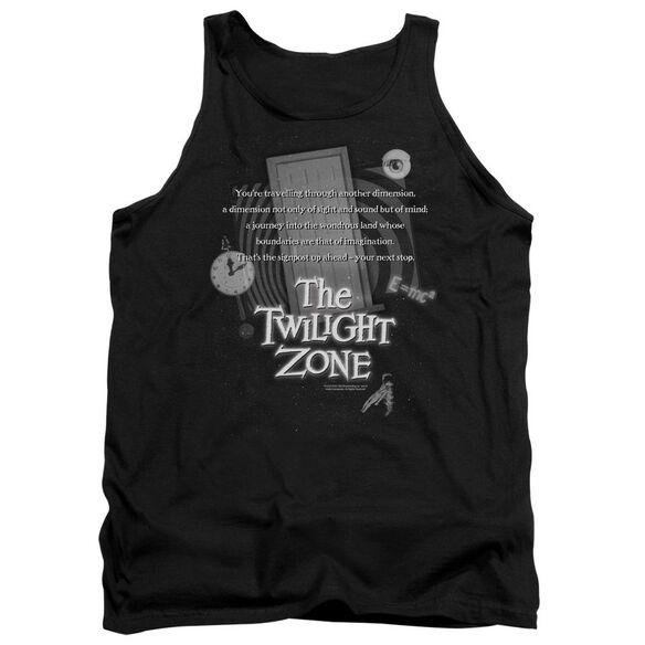 Twilight Zone Monologue - Adult Tank - Black