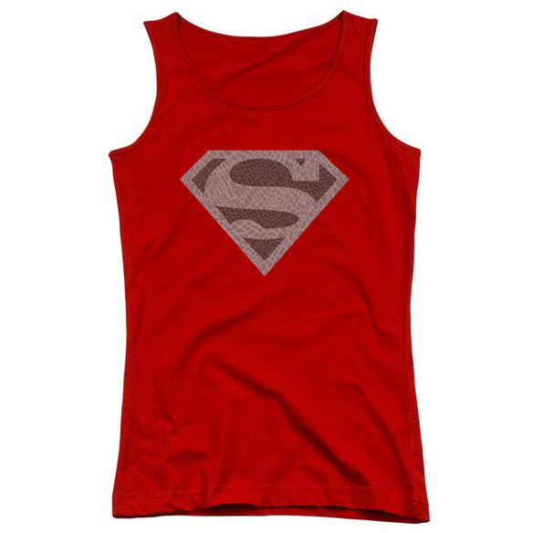 Superman Elephant Shield Juniors Tank Top
