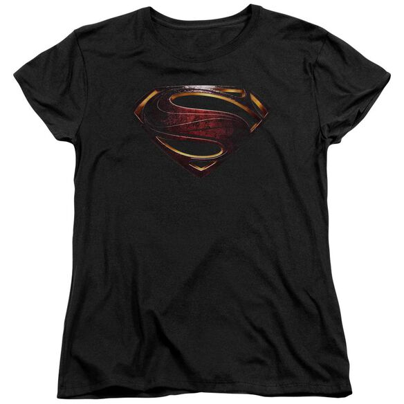 Justice League Movie Superman Logo Short Sleeve Womens Tee T-Shirt