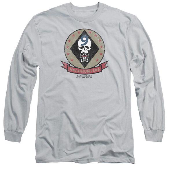 Bsg Headhunters Badge Long Sleeve Adult T-Shirt