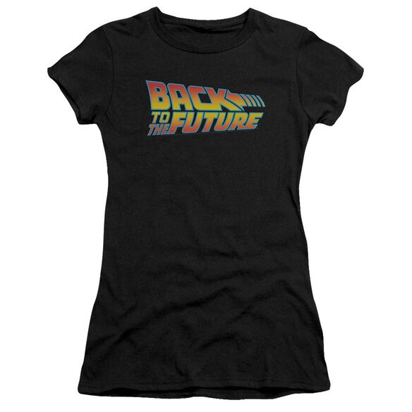 Back To The Future Logo Premium Bella Junior Sheer Jersey