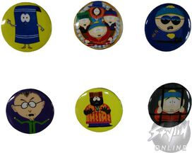 South Park Characters Button Set