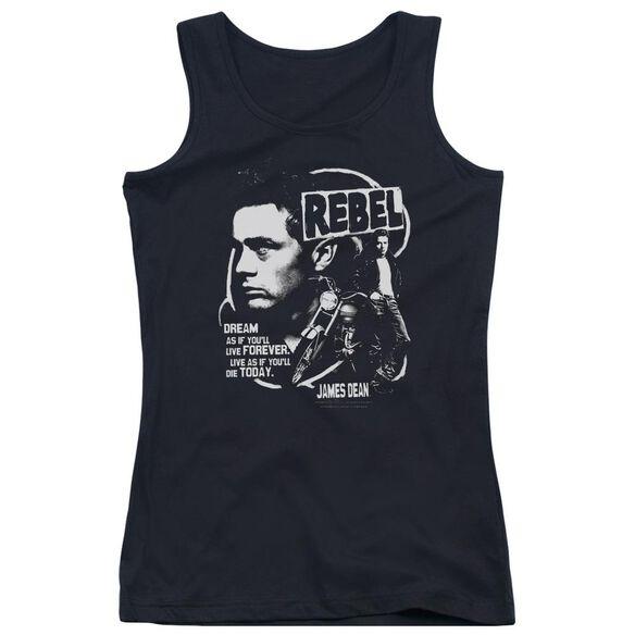 Dean Rebel Cover Juniors Tank Top