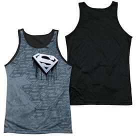 Superman Drip And Repeat-adult Poly Tank Top