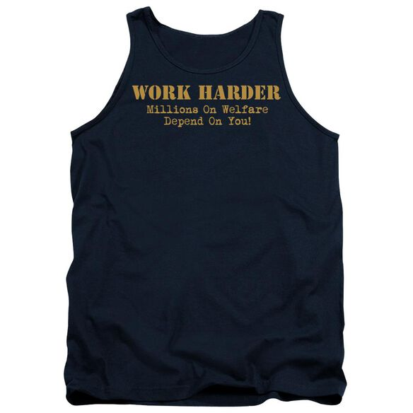 Work Harder Adult Tank