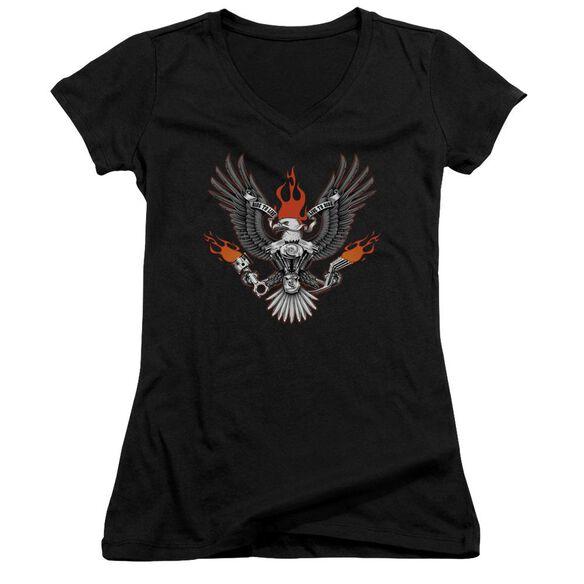 Biker Eagle Junior V Neck T-Shirt