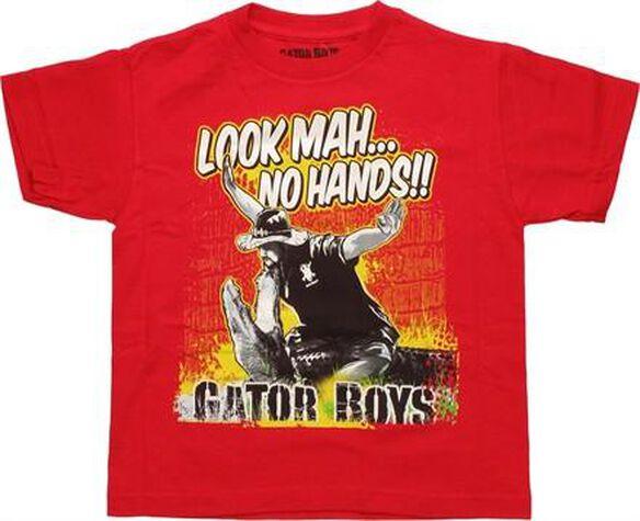 Gator Boys Look Mah No Hands Youth T-Shirt