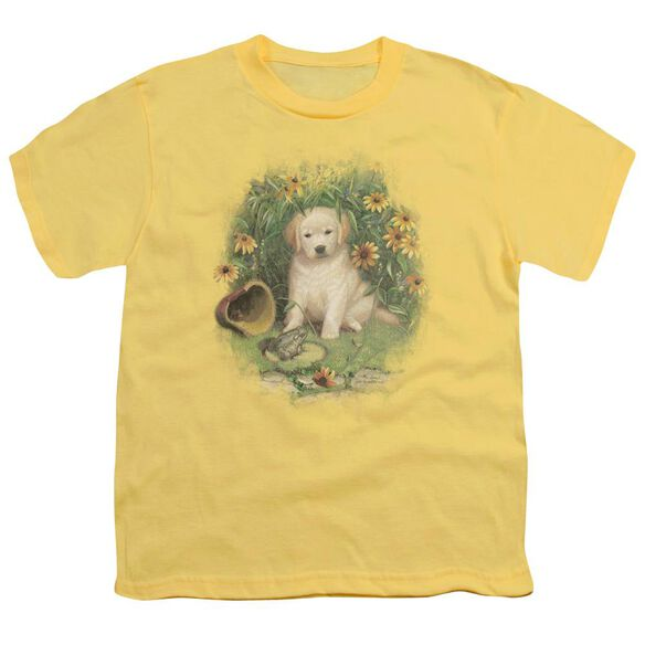 Wildlife A Prince Perhaps Yellow Lab Short Sleeve Youth T-Shirt
